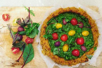 פיצה דלעת פסטו טבעונית ללא גלוטן