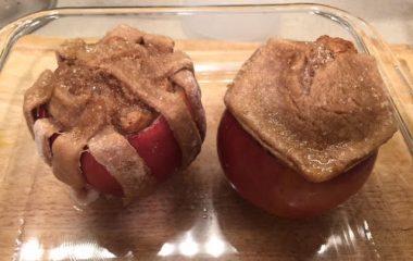 עוגת דבש בתוך תפוח
